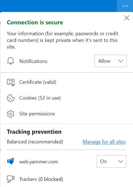 Cuplikan layar memperlihatkan pengaturan browser untuk mengizinkan pemberitahuan desktop