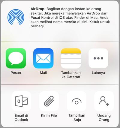 Bagikan di OneDrive