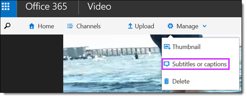Subtitle video Office 365