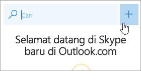 Cuplikan layar tombol Percakapan baru