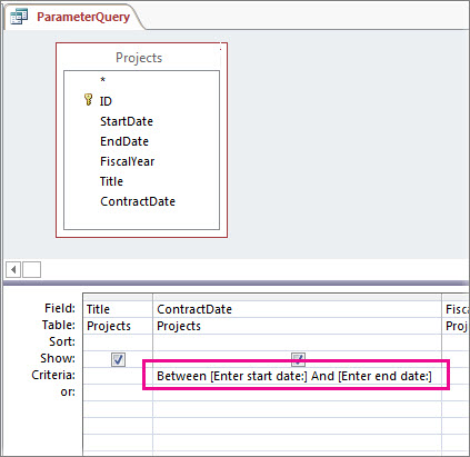 Kueri parameter dengan dua parameter.