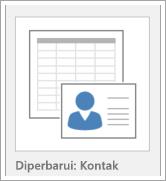 Ikon untuk opsi Templat database