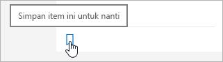 Klik ikon untuk menyimpan untuk nanti