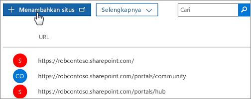 Kumpulan situs pembuatan pusat admin Office 365