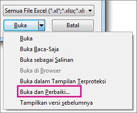 Memperbaiki file excel yang rusak/ corupt