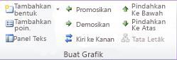 Grup Buat Grafik pada tab Design di bawah Alat SmartArt