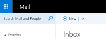 Tampilan pita dalam Outlook Web App