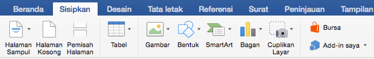Klik tab Sisipkan, lalu klik Bagan