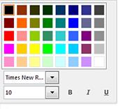 Cuplikan layar jendela mengubah font