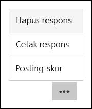 Menghapus, mencetak, dan memposting Skor opsi di Microsoft Forms