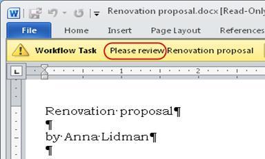 Teks Silakan disetujui pada bilah pesan dalam item
