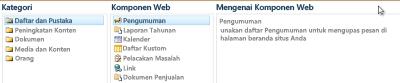 Pemilih Komponen Web