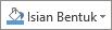 Tombol isian bentuk pada Format tab