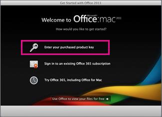 Mengaktifkan layar Office untuk Mac