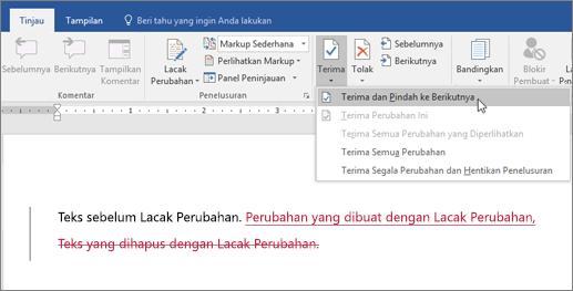 Lacak Perubahan Word Office 365