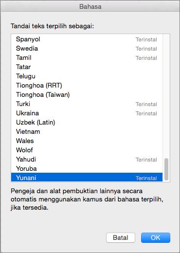 Alat pemeriksaan Office untuk Mac