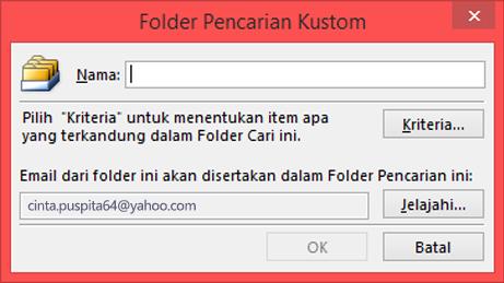 Masukkan nama Folder Pencarian Anda