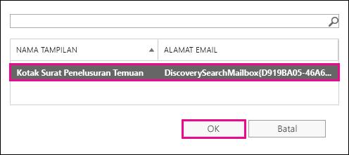 Salin hasil pencarian ke Kotak Surat Pencarian default.