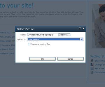 Menambahkan gambar ke situs