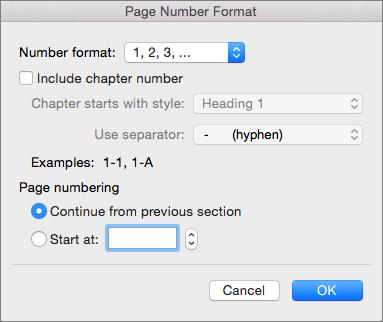 Pilih format untuk nomor halaman