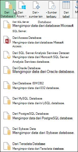 Mendapatkan data dari Database dialog