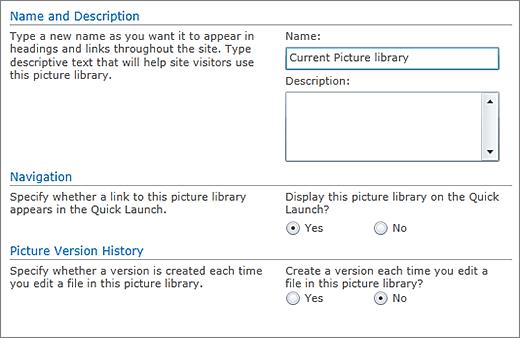 Dialog untuk menambahkan nama, diagram, navigasi luncur cepat, dan penerapan versi.