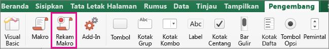 Rekam Makro Excel untuk Mac
