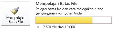 Meter dokumen SharePoint Workspace, menggunakan 7.500 hingga 9.999 dokumen