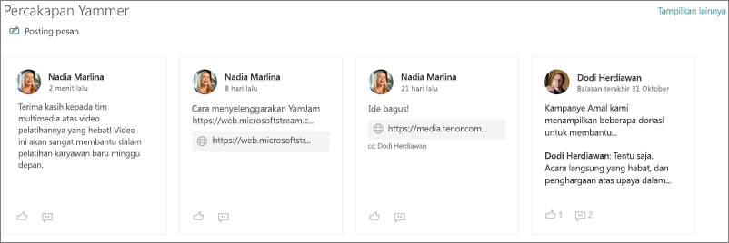 Komponen web percakapan