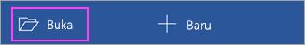 Ketuk Buka dari layar utama aplikasi.