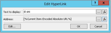 Menyisipkan Hyperlink untuk Item Saat Ini 2