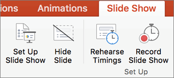 Klik tab peragaan Slide