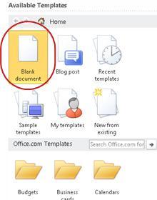 Dokumen kosong
