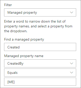 Disorot konten dengan filter properti yang dikelola