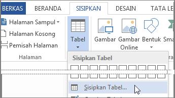 Sisipkan tabel