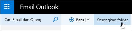 Cuplikan layar tombol Kosongkan Folder.