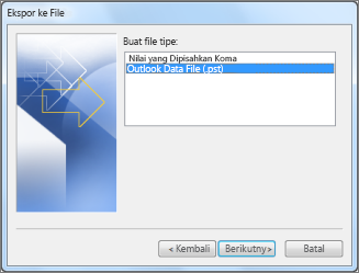 Ekspor ke file data