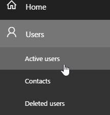 Cuplikan layar memperlihatkan halaman Beranda admin mengedit pengguna