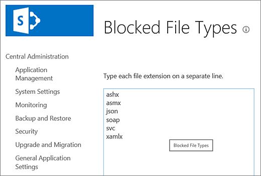 Daftar file yang diblokir