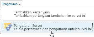 Pengaturan Survei