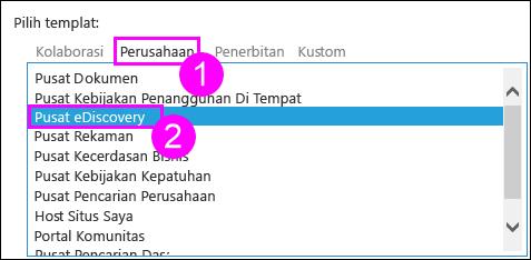 Templat kumpulan situs di tab perusahaan