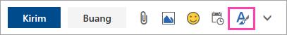 Cuplikan layar tombol opsi pemformatan