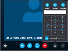 Cuplikan layar memperlihatkan tombol audio