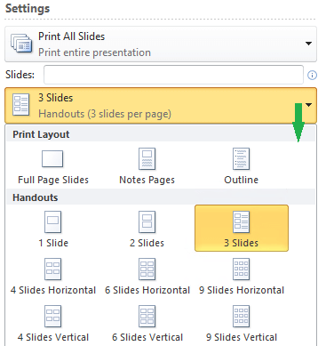 Tata letak untuk mencetak handout