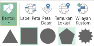 Opsi Bentuk Peta 3D