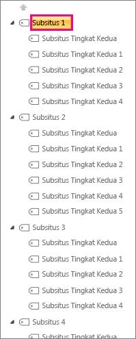 Cuplikan layar contoh Subsitus1