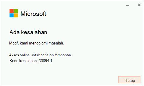 Kode kesalahan 30094-4 penginstalan Office