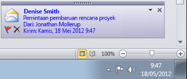 Pemberitahuan Desktop Outlook