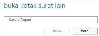 Kotak dialog membuka kotak surat lain Outlook Web App