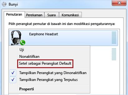 Tetapkan perangkat sebagai default di Windows